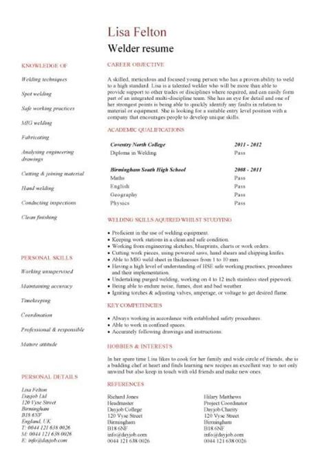 entry level microsoft jobs welder cv sample