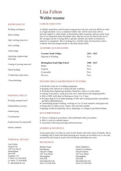 entry level microsoft jobs welder cv sample