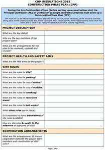 Construction Risk Assessment Template