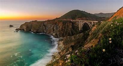 Sur Bridge Bixby California Creek Coast Ocean