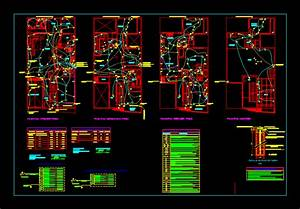 Plano Electrical Installations DWG Block for AutoCAD