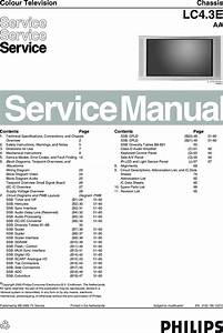 Philips Chassis Lc4 3e Aa Service Manual   S Manuals