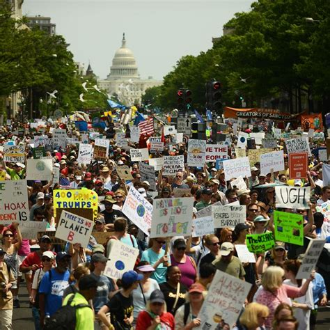 Tens of Thousands March Against Climate Change in D.C.