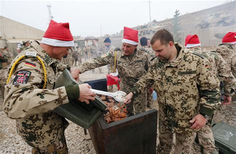 german soldiers last christmas at afghanistan combat outpost