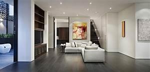 Light Sofa Dark Floors Verdant Avenue Home In Melbourne