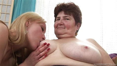 Hana X Gina B In Fat saggy Granny Playing With A Blonde