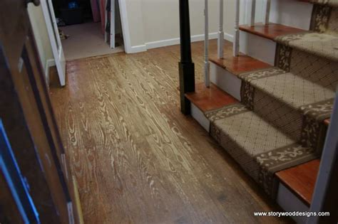 Hometalk   Painted old hardwood floors in a whitewashed