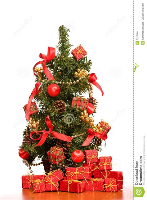 mini christmas tree  office desk stock photo image