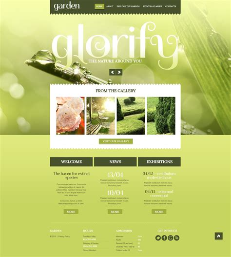 gardening web garden design responsive website template 44401