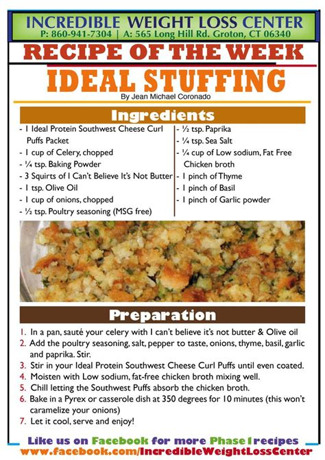 Ideal Protein Phase 1 Stuffing with Southwest Cheese Curl