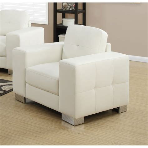 leather accent chair in ivory i8221iv