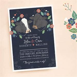 country cows quirky wedding stationery for a country couple With funny wedding invitations ireland