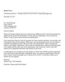 Cover Letter For Retail Sales Associate Sle Cover Letter For Retail Sales Associate Sle Letter With