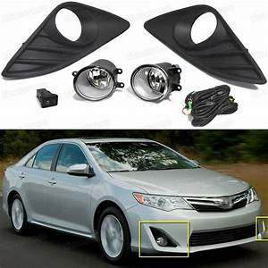 Oem Front Fog Lights Lamp  Cover Grille  Switch For Toyota Camry 2012
