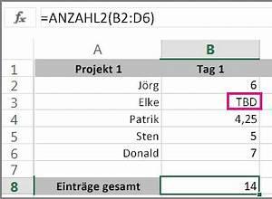 Verwenden von anzahl2 zum zahlen von zellen die nicht for Excel z u00e4hlenwenn zelle nicht leer