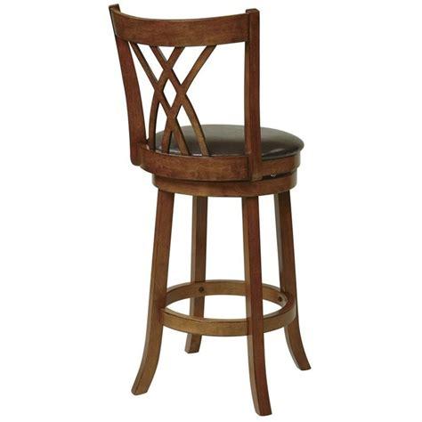 30 quot wood swivel bar stool in oak met2330 es