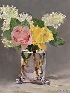 Lilacs And Roses Painting by Edouard Manet