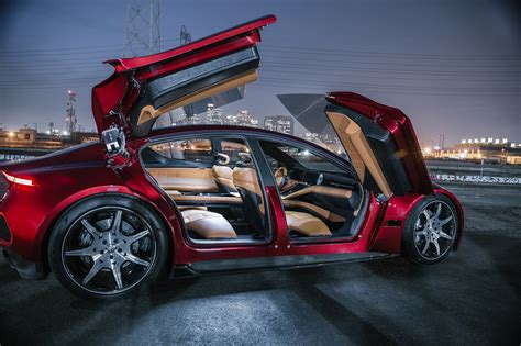 Fisker Emotion Spreads Its Suicide Butterfly Doors
