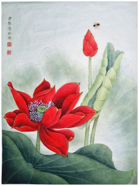 Saatchi Art Original Chinese Gongbi Painting Elegant