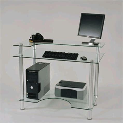 small glass computer desk rta small glass computer desk clear glass cut 106