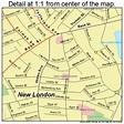 New London Connecticut Street Map 0952280
