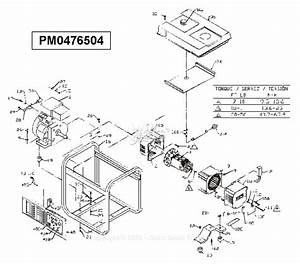 Powermate Formerly Coleman Pm0476504 Parts Diagram For Generator Parts