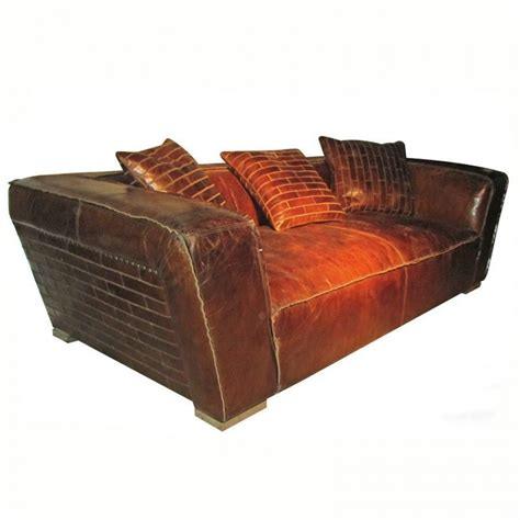 Awesome Artsome Vintage Cigar Leather Sofa Couch 91 39 39 Wide