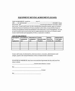 8 rental lease templates free sample example format With equipment lease document template