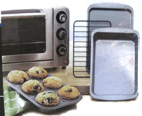 Pyrex In Toaster Oven - mainstays nonstick toaster oven bakeware set 4 home