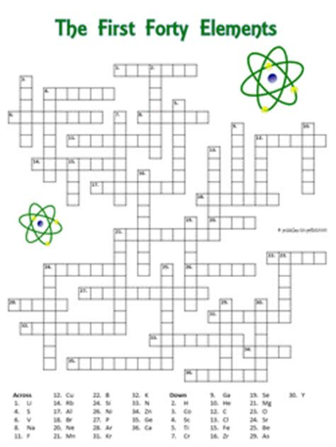 Leap 2025 grade 8 mathematics practice test answer key … powered by create your own all answer keys are included. Printable Crossword: The Elements