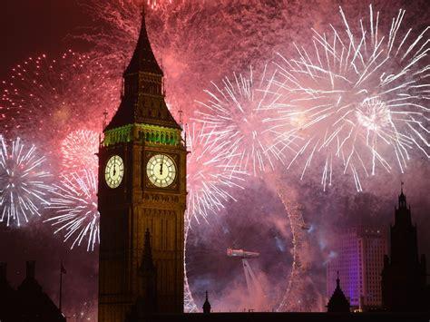years eve fireworks big ben clock  london desktop