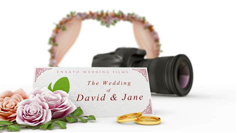 wedding intro after effects project files videohive