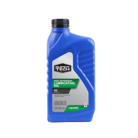 tech non detergent sae 30w lubricating 1 quart walmart