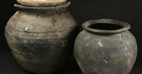 Cooking Pots From Coppergate, York, One With Wooden Lid