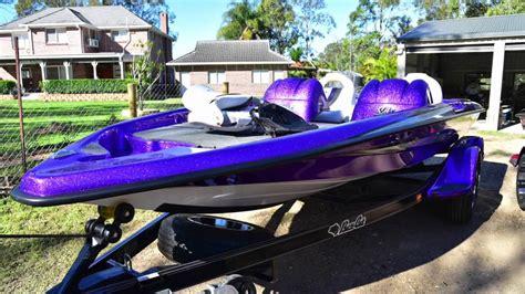 Purple Bass Boat by Basscat Australia