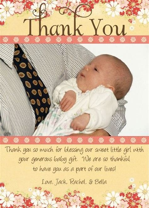 How To Write Thank You Cards For Baby Shower by Baby Shower Gift Card Thank You Wording Baby Shower