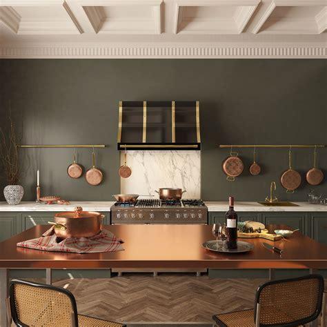 amoretti brothers handmade copper table cookware range hood  finishing  patinas
