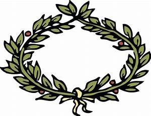 laurel leaf crown template clipart best With laurel leaf crown template
