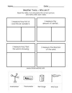 weather worksheets  kindergartens