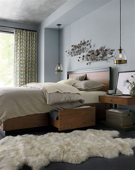 Schlafzimmer Grau Braun by Grey And Brown Bedroom Modern Blair Crate Barrel