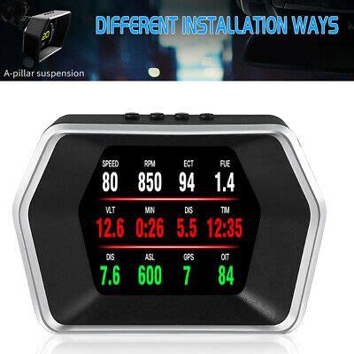 head  display car truck speedometer gps obd navigation