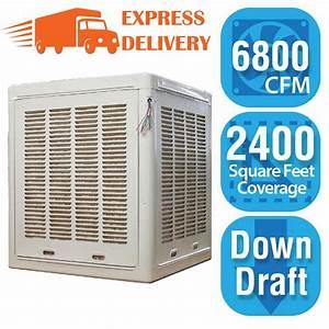 Hessaire 6 800 Cfm Down Side Evap Cooler