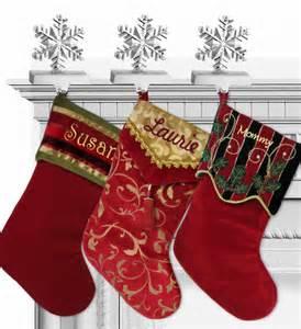 Adult Christmas Stockings : Red Velvet Stocking with Scalloped