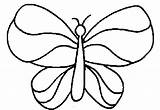 Coloring Simple Butterfly Pages Colouring Flower Wings Printable Easy Cliparts Drawings Clipart Clip Print Toddlers Fish Cartoon Template Printables Library sketch template