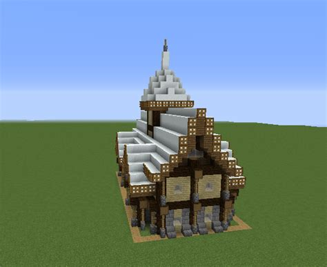 rustic medieval snowy house  grabcraft  number  source  minecraft buildings