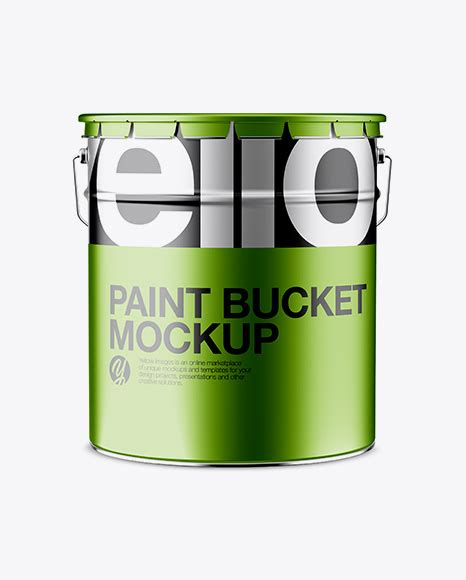 Free photoshop actions, lightroom presets, psd templates, mockups, stocks, vectors, fonts with direct download links. Matte Paint Bucket Mockup - Front View - Glossy Paint ...
