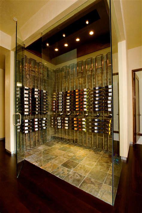 Vintage View Metal Wine Cellar  Contemporary Wine