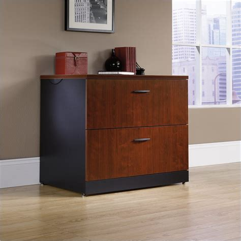Sauder Lateral File Cabinet Wood by Sauder Via Lateral File Classic Cherry Filing Cabinet Ebay