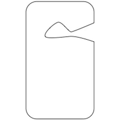 blank plastic hang tags  school parking seton school