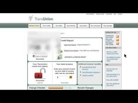 transunion credit report monitoring service cancellation